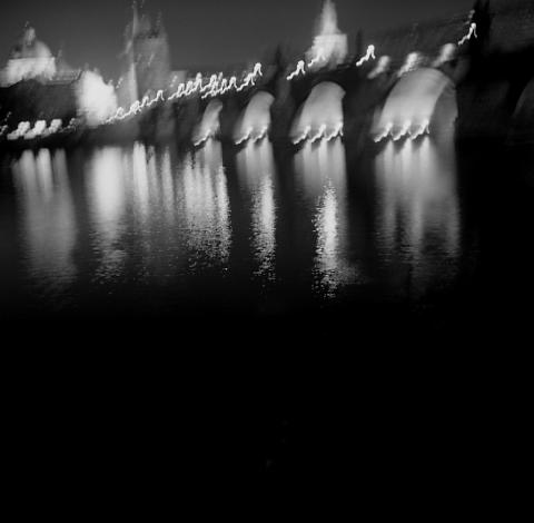Charles River Bridge, Prague - Buildings at Night