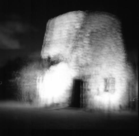 Old Sugar Mill, Antigua - Buildings at Night