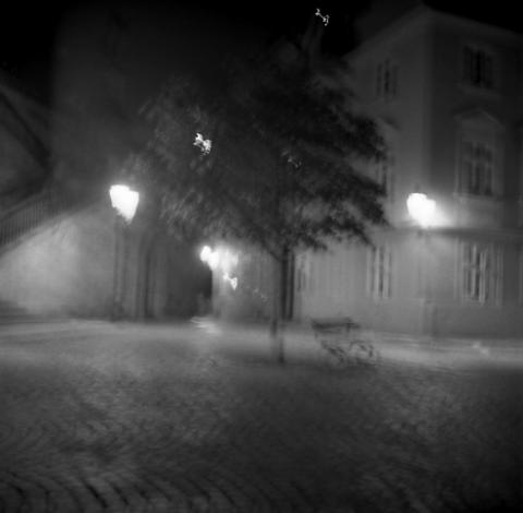 Deserted Street, After Midnight 3, Prague - Buildings At Night Series