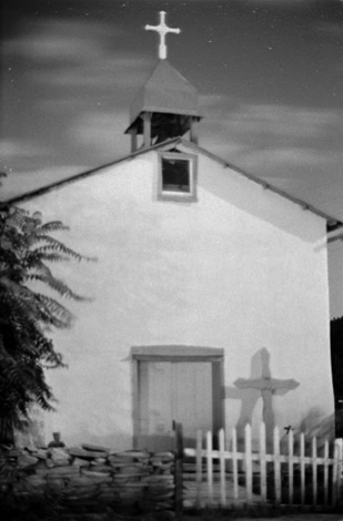 Entrance to Canoncito Church - New Mexico